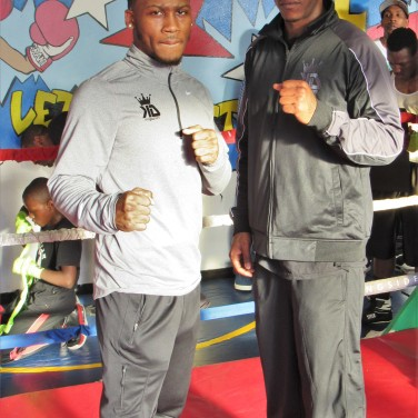 KiNG DAMON POSTED WiTH GENO TONEY, COUSIN OF FAMOUS BOXER JAMES TONEY.